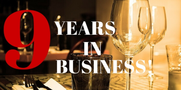 Celebrating Nine Years in Business!