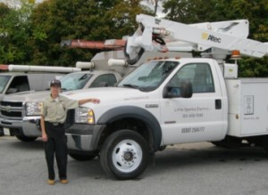 electrician's truck