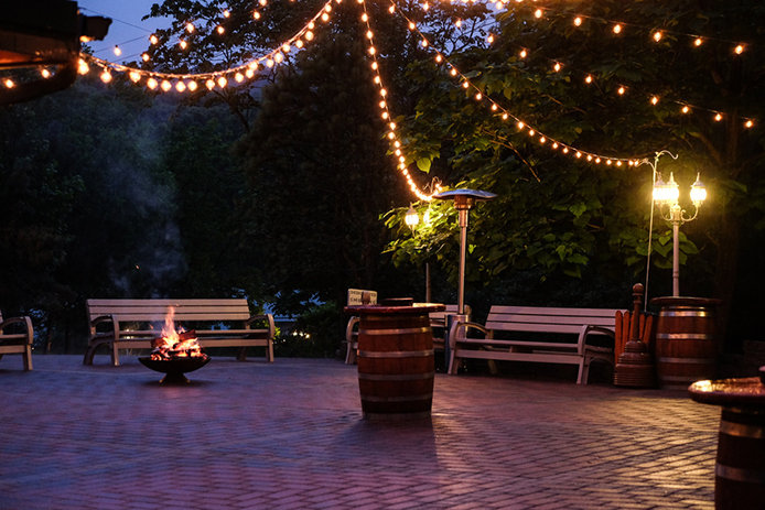 Create ambiance with outdoor lighting